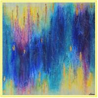 In espectativa...21-0887 - Tablou unicat, pictat manual in original pe panza - Abstracte