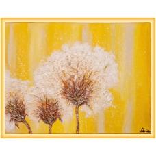 In lumina soarelui...20-0465 - Tablou unicat, pictat manual in original pe panza - Flori