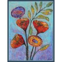 Tabou  cu flori, pictat pe panza - Inocenta