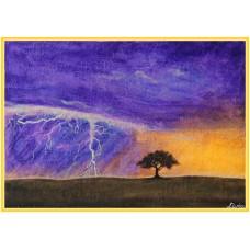 Introspectie21-0904 - Tablou unicat, pictat manual in original pe panza - Peisaje