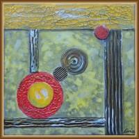 talou abstract - 'Joc de linii drepte, linii curbe si culori'