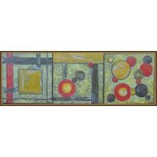 'Joc de linii si culori' - Set 3 tablouri abstracte