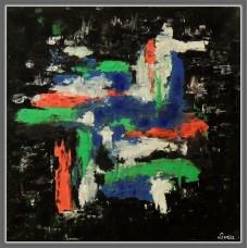 Tablou abstract, culori acrilice