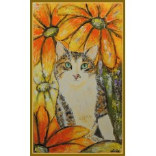 """Kitty"" - Tablou  cu animale"