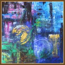'La cumpana dintre ani...' - tablou abstract