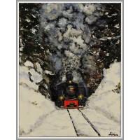 La Viseu...21-0509 - Tablou unicat, pictat manual in original pe panza - Peisaje montane
