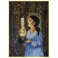 Lumini si umbre…20-0450 - Tablou unicat, pictat manual in original pe panza - Abstracte