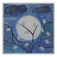 Luna plina printre  frunze argintii. Compozitii