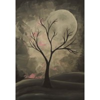 Luna plina. Peisaje