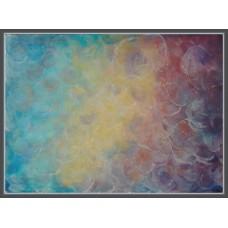 Nebula - Tablou abstract pictat cu culori acrilice pe panza