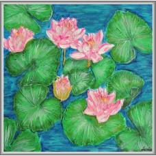 'Nuferi' - Tablou cu flori