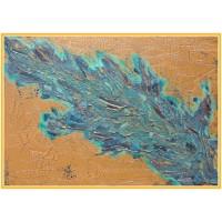 Pana21-0945 - Tablou unicat, pictat manual in original pe panza - Abstracte