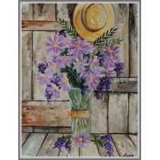 Parfum de Provence21-1027 - Tablou unicat, pictat manual in original pe panza - Flori
