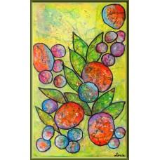 Parfum de vacanta20-0168 - Tablou unicat, pictat manual in original pe panza - Flori