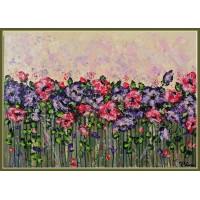 Parfum suav21-0549 - Tablou unicat, pictat manual in original pe panza - Flori