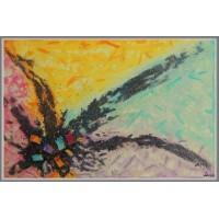 'Pasarea Phoenix' - Tablou abstract