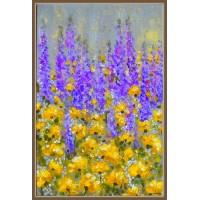 Pasiune si caldura - tablou cu flori, pictat manual, pe panza