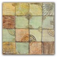 Patru Anotimpuri - tablou abstract pictat manual