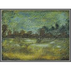 Peisaj de toamna - tablou pictat manual pe panza