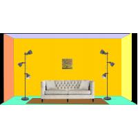 Perete cu tablou 40 x 40 cm - Tablou unicat, pictat manual pe panza - Exemple de marimi tablori