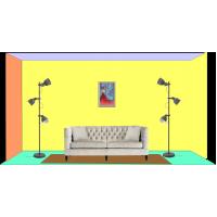 Perete cu tablou 60 x 40 cm - Tablou unicat, pictat manual pe panza - Exemple de marimi tablori