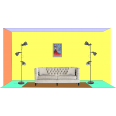 Perete cu tablou 40 x 60 cm