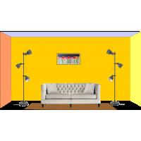 Perete cu tablou 80 x 40 cm - Tablou unicat, pictat manual pe panza - Exemple de marimi tablori