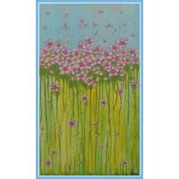 Primavara in roz - tablou cu flori