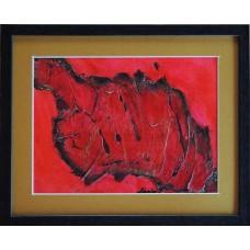 Rosu si negru21-0963 - Tablou unicat, pictat manual in original pe panza - Abstracte