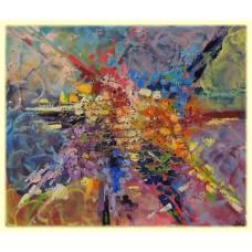 Scrisoare catre Universul culorilor20-0455 - Tablou unicat, pictat manual in original pe panza - Abstracte