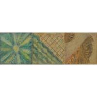 Soare, valuri si nisip. Set de trei tablouri abstracte, unicate, realizate manual, pictate in culori acrilice