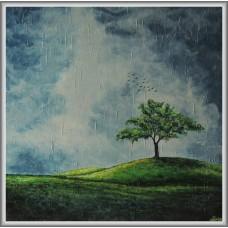 Solitar...21-0772 - Tablou unicat, pictat manual in original pe panza - Peisaje