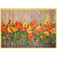 Stropi de lumina21-0537 - Tablou unicat, pictat manual in original pe panza - Flori