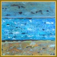 Stropi de tristete - Tablou unicat, pictat manual pe panza - Abstracte