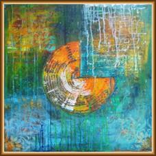 tablou abstract - 'Suprapuneri'