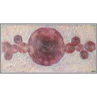 """Tablou """"Fumuri"""". Tablou unicat, pictat manual pe panza Abstracte"""