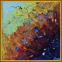 Tablou abstract frumos colorat 2
