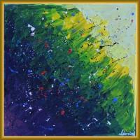 Tablou abstract frumos colorat