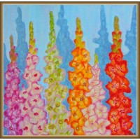 Tablou cu flori - Gladiole