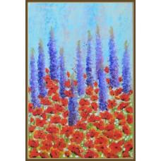 Tablou cu flori - Nuantele pasiunii