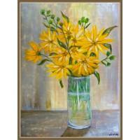 Tablou cu flori - Scantei de soare