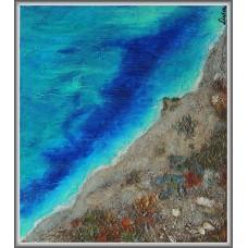 Tarm de... Lefkada21-1030 - Tablou unicat, pictat manual in original pe panza - Peisaje