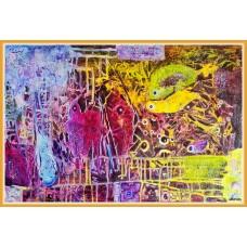 Tenebrele subconstientuluiT21-0109 1828 - Tablou unicat, pictat manual in original pe panza - Abstracte