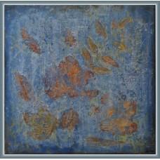 Toamna gri - Tablou unicat, pictat manual pe panza - Abstracte