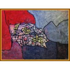 Vibratii21-0499 - Tablou unicat, pictat manual in original pe panza - Abstracte