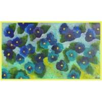 Violete21-0690 - Tablou unicat, pictat manual in original pe panza - Flori