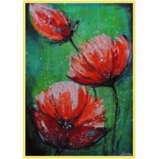 Zambet parfumat21-0956 - Tablou unicat, pictat manual in original pe panza - Flori